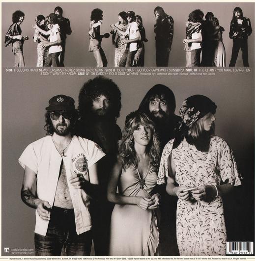 Fleetwood Mac Rumors back of album cover