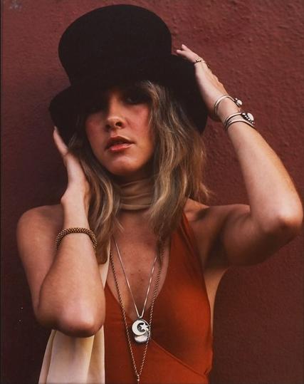 Stevie Nicks in her trademark Tophat